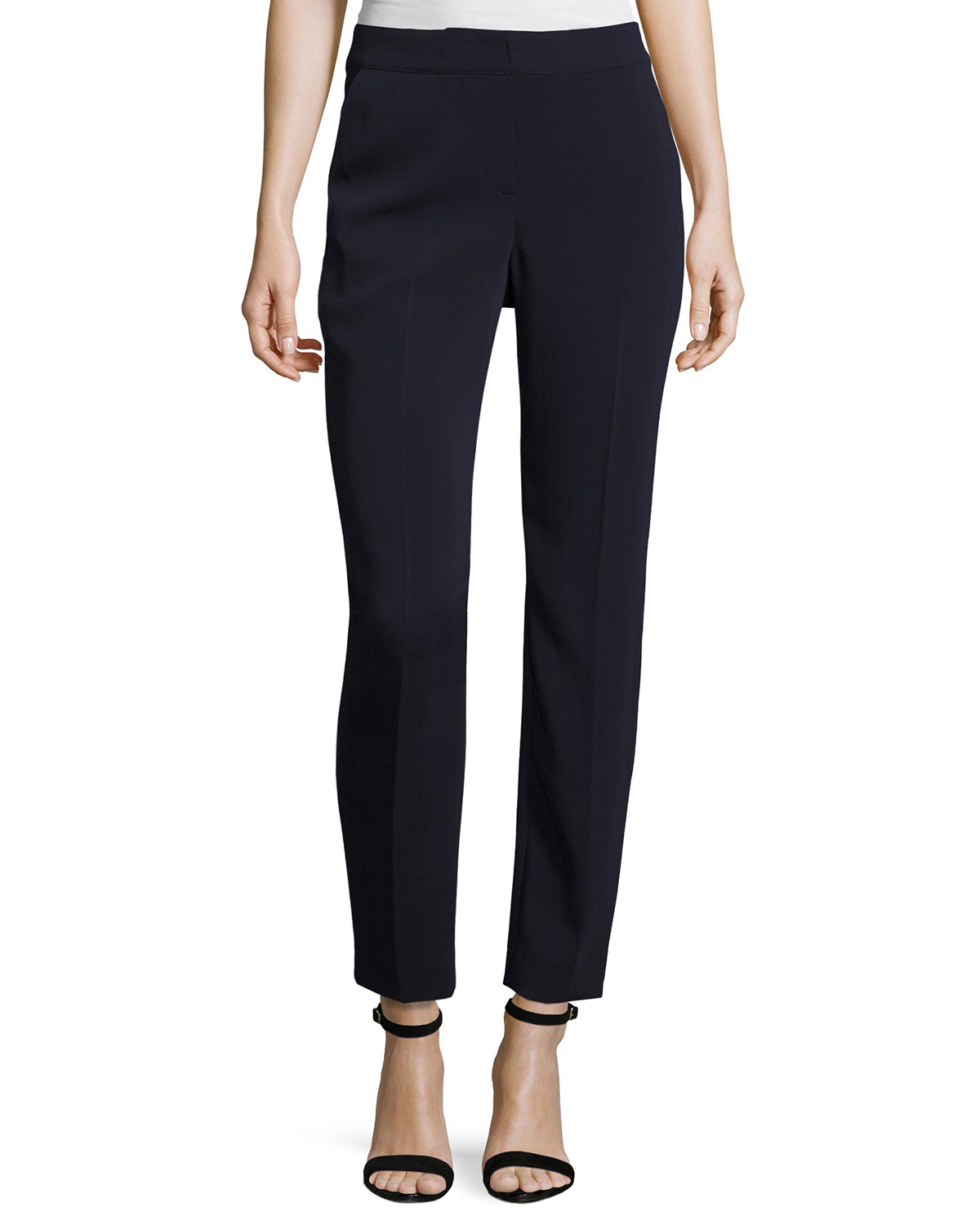 Classic Emma Stretch Cropped Pants, Navy