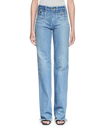 High-Rise Classic Jeans, Blue