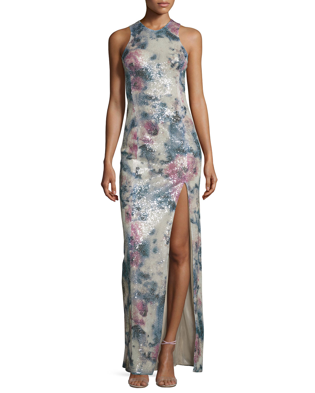 Desert Rose Sequined Sleeveless Gown, Desert Rose