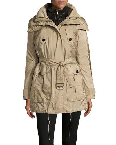 Chevrington 3-in-1 Trenchcoat/Puffer Coat, Sisal/Black