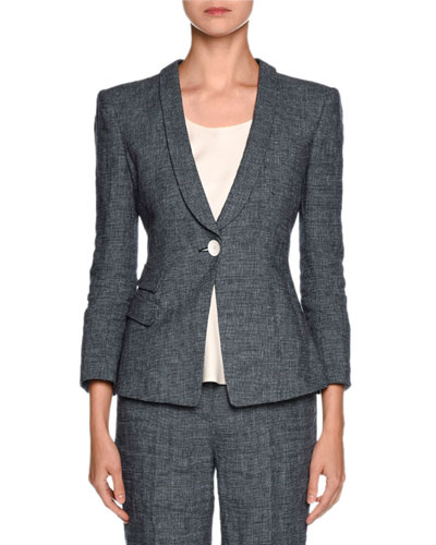 Houndstooth Side-Pocket Jacket, Fantasia