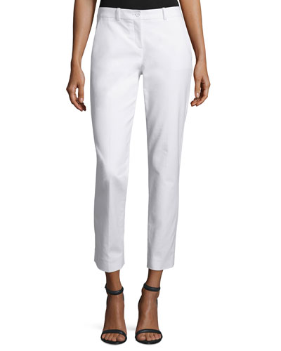 Samantha Cropped Skinny Pants, Optic White