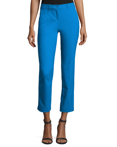 Samantha Cropped Skinny Pants, Wave