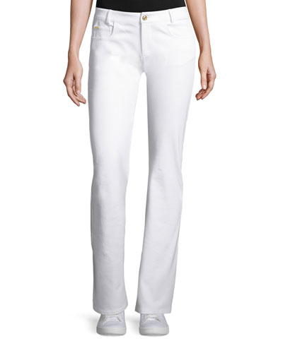Sport Twill Straight-Leg Pants, Bright White