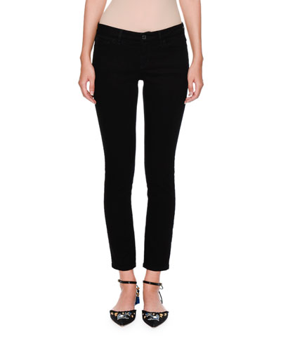 Lemon-Pocket Skinny Jeans, Black