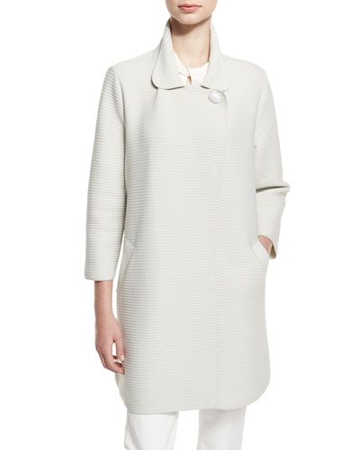 Ottoman One-Button Coat, Ivory