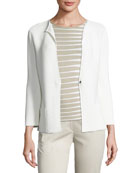 Ottoman Snap-Front Jacket, Off White