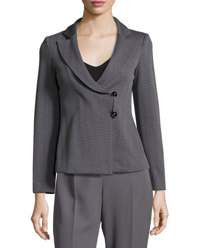 Chevron Jacquard Jacket, Gray