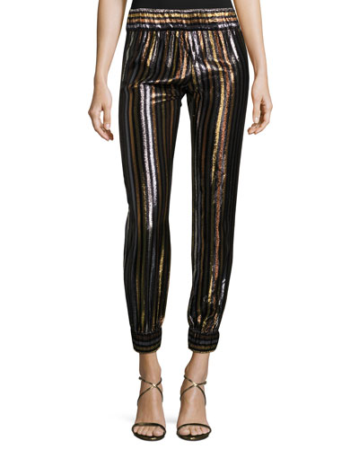 Colette Striped Cocktail Lounge Pants, Multi