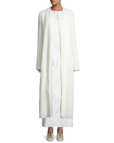 Pamie Boucle Long Coat, Neutral