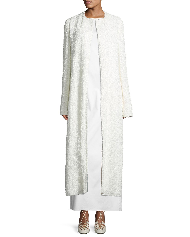 Pamie Boucle Long Coat, Neutral