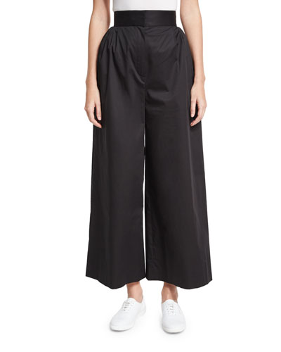Lado High-Waist Wide-Leg Pants, Black