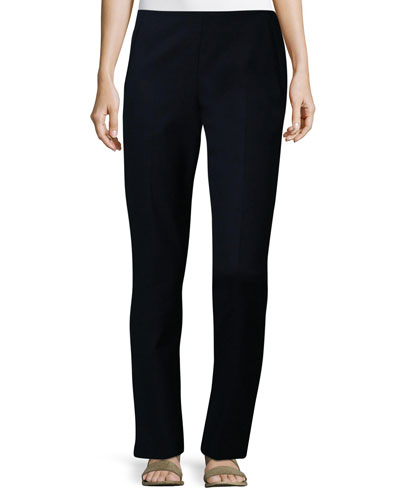 Nowa Straight-Leg Pants, Navy