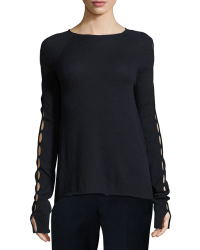Shayna Long-Sleeve Cashmere Sweater