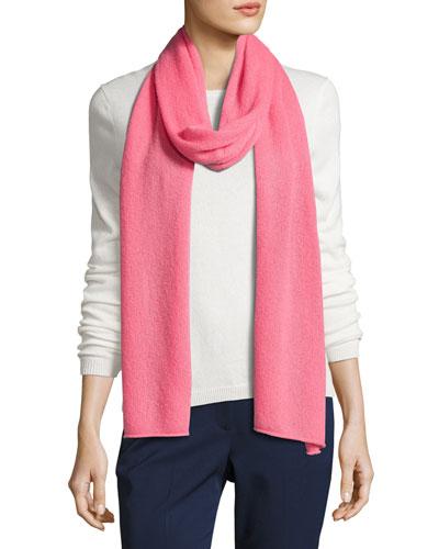 Cashmere-Blend Scarf, Pink