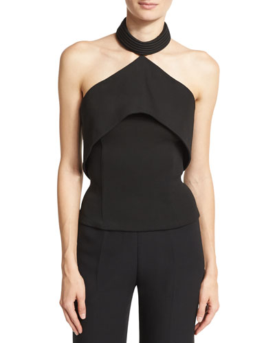 Molded Halter Top, Black
