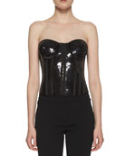 Strapless Liquid Sequin Bustier Top