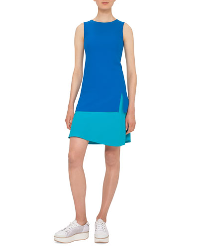 Colorblock Sleeveless Shift Dress