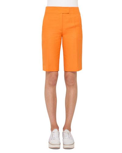 Straight-Leg Bermuda Shorts, Marigold