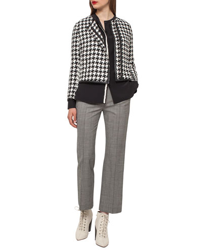 Harry Houndstooth Linen Jacket