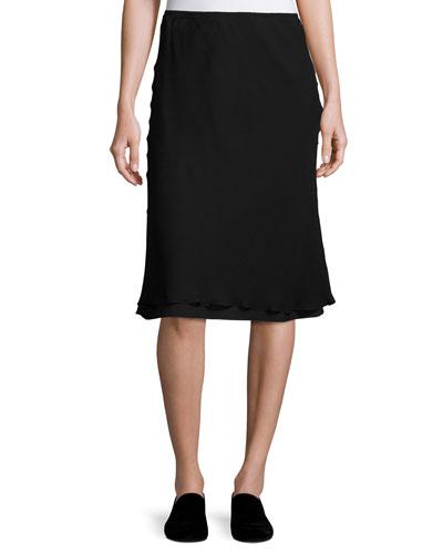 A Line Silk Skirt | Neiman Marcus