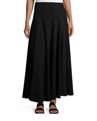 Dia A-Line Maxi Skirt, Black