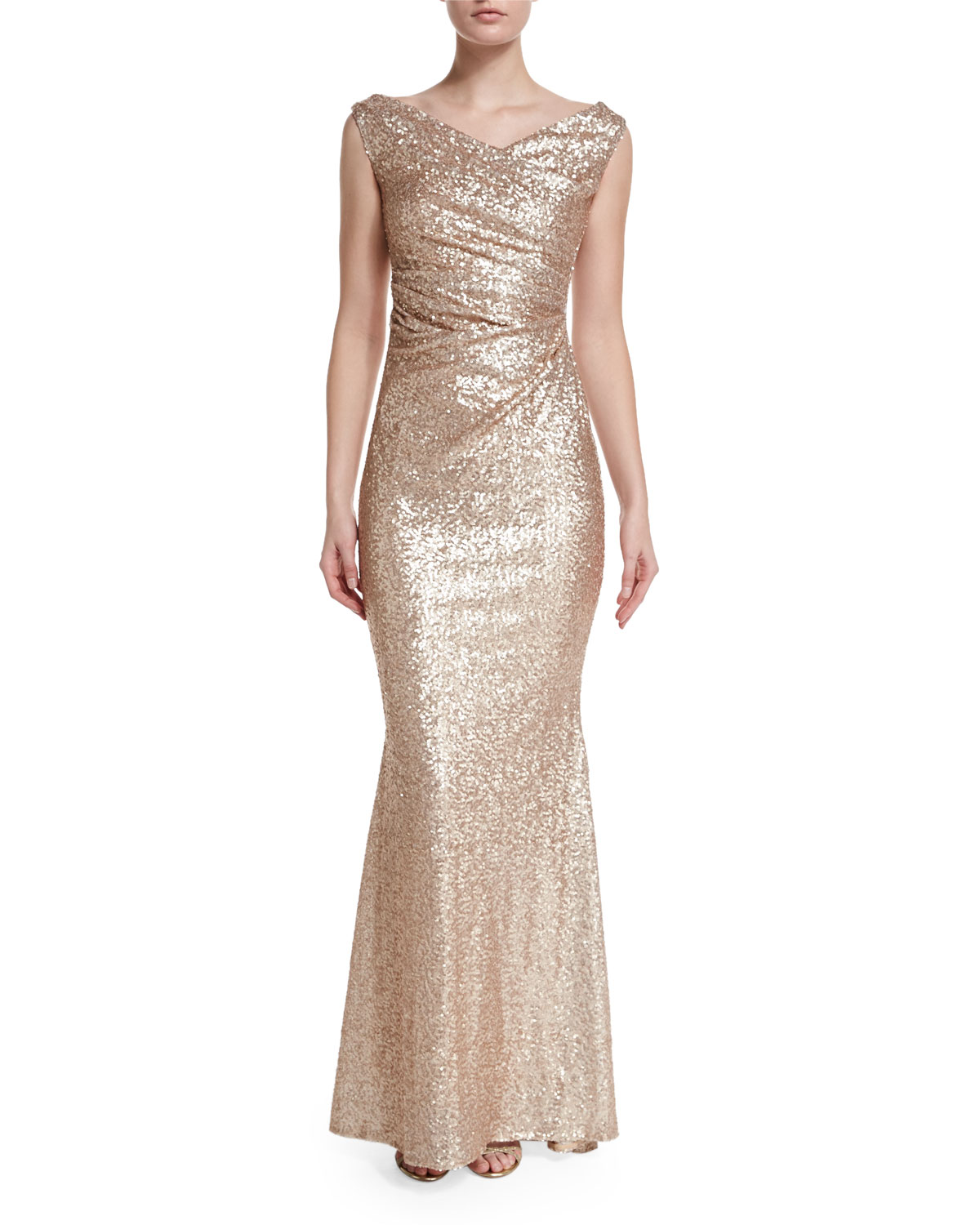 Sleeveless Iridescent Mermaid Gown