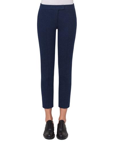 Frankie Slim-Leg Jersey Ankle Pants, Navy