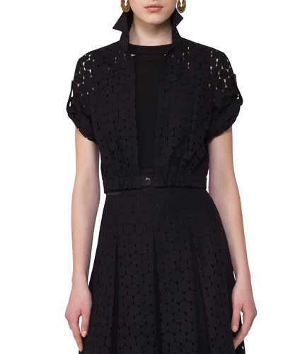 Punto Lace Bolero Jacket, Black