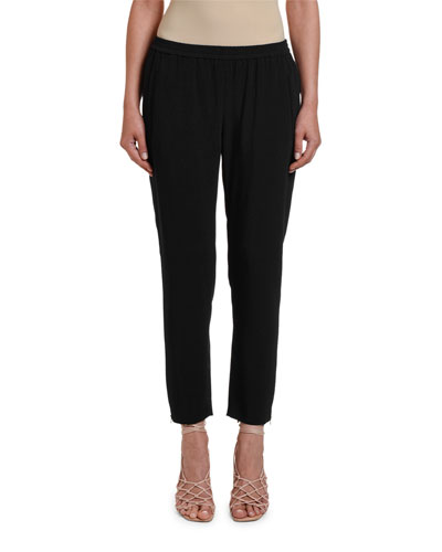 Tamara Relaxed Tapered Track Pants with Elastic Waist