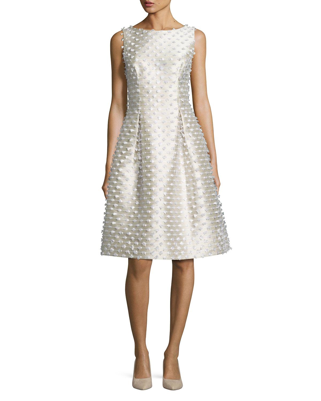 Betsy Fringe Full-Skirt Dress, White