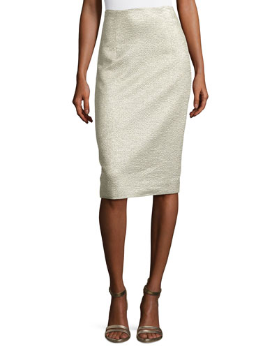 Eve Jacquard Pencil Skirt