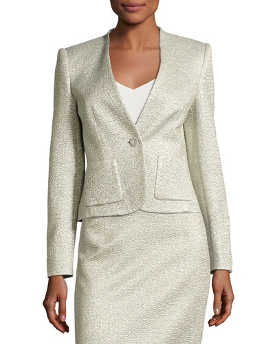 Eve Smoking Jacket, Silver