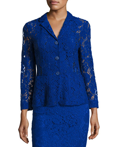 Lace 3-Button Jacket