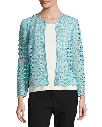 Macramé Lace Long-Sleeve Jacket