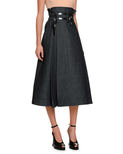 High Waist Leather Skirt | Neiman Marcus