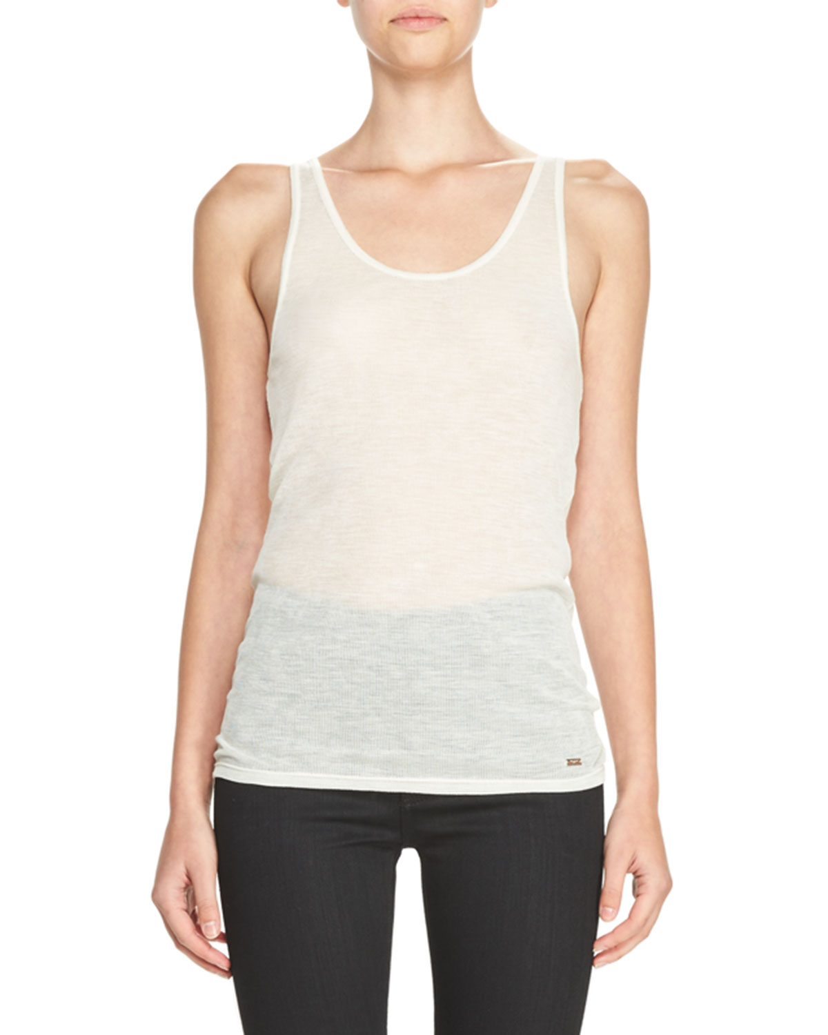 Wool Jersey Tank Top, Natural