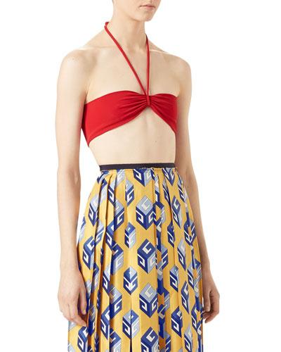 Loved Halter Swim Top, Red