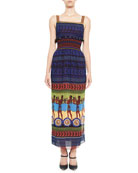 Hemera Printed Sleeveless Maxi Dress, Blue/Multi