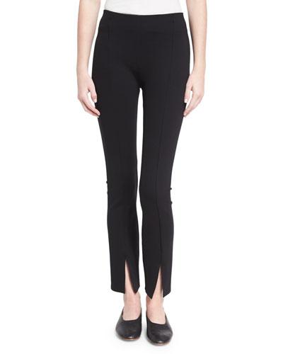Thilde Slit-Front Skinny Pants
