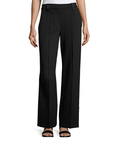 Alise Flare-Leg Pants, Black