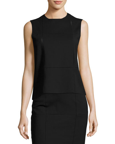 Grida Sleeveless Top, Black