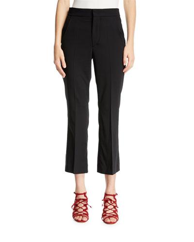 Maroan Flared-Leg Crop Wool Pants