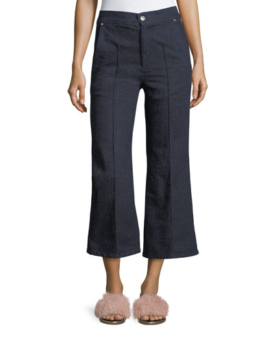 Parsley Cropped Wide-Leg Jeans