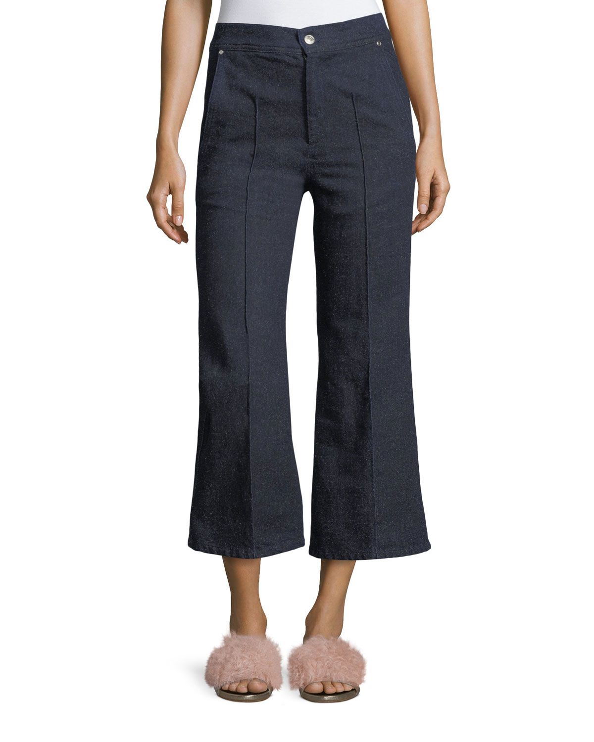 Isabel Marant Parsley Cropped Wide - Leg Jeans