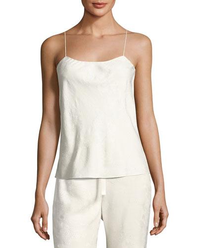 Biggins Textured Silk Camisole, Off White