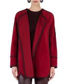 Wool-Cashmere Cape Jacket