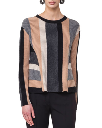 Geometric Colorblock Sweater