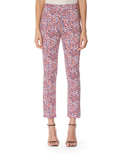 Polka-Dot Cigarette Pants, Multicolor