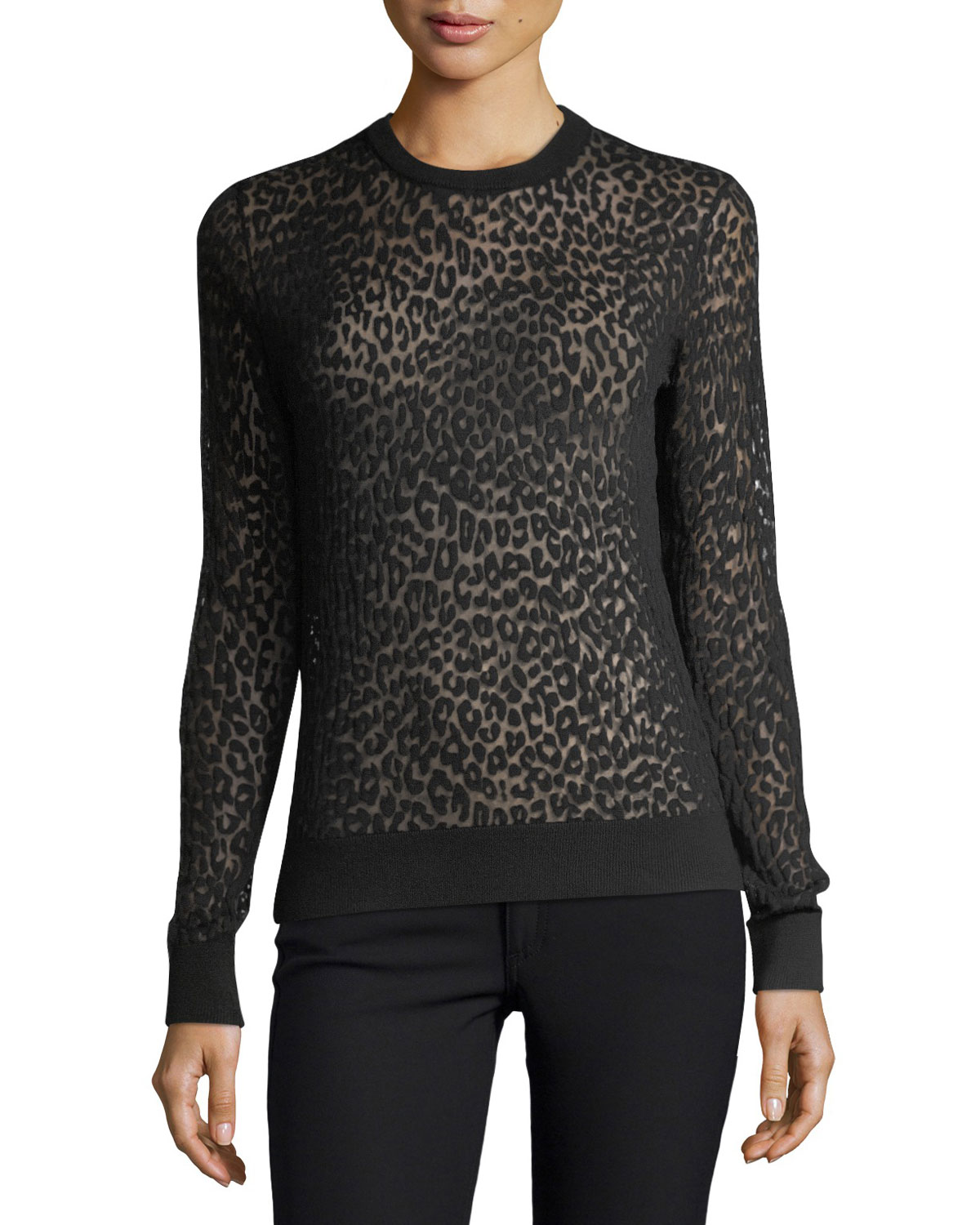 Burnout Leopard-Print Top